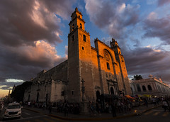 San Ildefonso Cathedral (out stealing pictures) Tags: cathedral church mexico yucatan merida goldenhour sunset landscape sky clouds cloudporn getoutthere preciousplanet catchthemoment justgoshoot canon canon6d