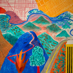 David Hockney, Outpost Drive, Hollywood, 1980 1/16/18 #metmuseum (Sharon Mollerus) Tags: metropolitanmuseumofart newyork unitedstates us
