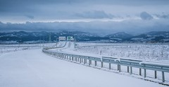 Lonely snowy road (Pavel Valchev) Tags: road sofia kitlens af nex a6300 emount oss landscape snow sel1855 wideangle