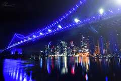 Bridge Reflections (PhilPhotosity) Tags: brisbane australia queensland awesome city cityscapes night nightphotography views wow nikon crazy igersbrisbane