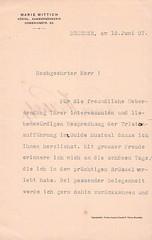 WITTISCH, Marie, Tristan und Isolde à la Monnaie, Dresde, 12/06/1907 (Operabilia) Tags: goldenage opera operabilia claudepascalperna dominiquejpréaux autographe autograph monnaie bruxelles brussels soprano mariewittich isolde lirica dominiquepréaux