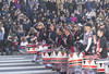 Marching to their own beat (Tim Brown's Pictures) Tags: washingtondc chinatown chinesenewyear parade yearofthedog 2018 batala drummers women music musicians afrobrazilianband sambareggae drumming washington dc unitedstates