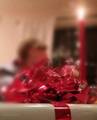 The Gift (evakongshavn) Tags: sundaylights present gift red light candlelight candle wrapped party happybirthday birthday