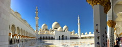 Courtyard and colonade of Sheikh Zayed Grand Mosque (+2) (peggyhr) Tags: peggyhr sheikhzayedgrandmosque جامعالشيخزايدالكبير img4848axy abudhabi courtyard colonade inlaidflowers marble preciousstones domes minarets reflections iphone super~sixbronze☆stage1☆ thegalaxy thegalaxystars whiteinonbetweenwhite super~six☆stage2☆silver thegalaxystarshalloffame thegalaxyhalloffame super~six☆stage3☆gold sóloarquitecturayarte 50faves