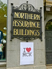 Northern Assurance Buildings, Manchester, UK (Robby Virus) Tags: manchester england uk unitedkingdom britain greatbritain british architecture northern assurance insurance building buildings waddington sons sign signage mcr heart