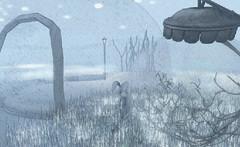 """Snow Bunny"" (A Lone) Tags: second life secondlife sl virtual dark light shadow art firestorm gimp photography windlight photo sim 3d nature landscape scenery beauty romance serene surreal snowglobe snow snowbunny bunny rabbit winter winterscape"
