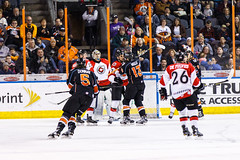 "Kansas City Mavericks vs. Cincinnati Cyclones, February 3, 2018, Silverstein Eye Centers Arena, Independence, Missouri.  Photo: © John Howe / Howe Creative Photography, all rights reserved 2018. • <a style=""font-size:0.8em;"" href=""http://www.flickr.com/photos/134016632@N02/28338396819/"" target=""_blank"">View on Flickr</a>"