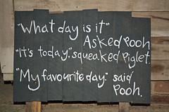 What Day is It? (Campag3953) Tags: sign blackboard chalkboard winnie pooh quotation ashdown