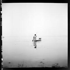 canoe fog (Matt Jones (Krasang)) Tags: canoe fog lake acros film 6x6 lubitel166b