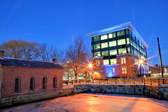 2/14/18 (MRD Images) Tags: lowell ma massachusetts 52week winter february canon eos 5d markiv canal city downtown flickr week7 bluehour