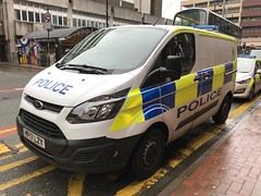 Police Vehicles - Greater Manchester Police - England - February 2018 (firehouse.ie) Tags: paddywagon manchester gmp polizeiwagen polizei polizia police vehicule vehicle l'auto coche car custody custodyvan fourgon van fordtransit transit ford