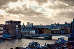 More views from the Deck (Мaistora) Tags: city cityscape river riverscape london thames squaremile monument towers spires steeples skyline sky clouds viewpoint vantage vista sight pov view picturesque painterly sony alpha a6000 kit zoom lens 1650mm pancake sel1650pz epz1650mmoss dxo optics luminar
