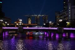 SINGAPORE MARINA BAY (meren34) Tags: marina singapore night panorama lights sea high sky line travel bay sandbay hotels long exposure show water merline clarke quay