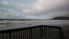 High tide waves crashing (c_nilsen) Tags: video digital cameraphone pacifica sanmateocounty california lindamar beach ocean pacificocean lindamarbeach pacificastatebeach hightide sand