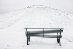 Viewpoint (marktmcn) Tags: wintry stave hill surrey docks rotherhithe london snow covered snowy park bench view viewpoint mound viewing point winter scene dsc rx100