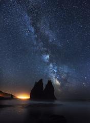 Milky Way over the Ocean (Realto Beach, Olympic Peninsula, WA). (Sveta Imnadze) Tags: landscape night stars starrysky milkyway olympicpeninsula lapush realtobeach wa