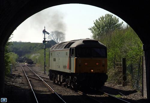 """47376 """"Freightliner 1995"""" GWR Cheltenham Racecourse 170408"""