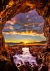 Cave with a View (Arwinder Nagi) Tags: sunset clouds arwindernagi seascape sea ocean california rock cave