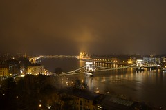 Golden Budapest (Alex LX) Tags: europe hungary capital city budapest buda pest night backlight lights cityscape cityview cityline noflash royal palace parliament hungarian chain bridge river water riverside danube dunay duna dark golden gold glow sky architecture