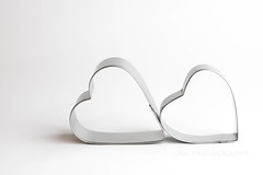 I'll Follow You (jah32) Tags: hearts heart silver white whimsey stilllife onthetable tabletop valentinesday valentine love