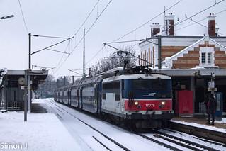 La BB 17075 à Cormeilles en Parisis