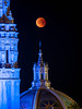 Super Blue Blood Moon over St Francis Chapel - Balboa Park (Jun C Photography) Tags: night olympus microfourthirds omd mkii astrophotography super sandiego moon u43 em5 blood lunareclipse sky markii mk2 mft blue