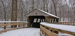 Favorite spot. (anneescott) Tags: bridge coveredbridge wood snow winter