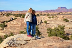 The Kids On The Pothole Point Trail (Joe Shlabotnik) Tags: nationalpark utah violet 2017 canyonlands everett november2017 canyonlandsnationalpark afsdxvrzoomnikkor18105mmf3556ged