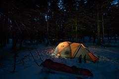 La nuit tombe sur le campement (Samuel Raison) Tags: hautsplateauxduvercors vercors tente mountainhardwear bivouac nikon nikond800 nikon281424mmafsg