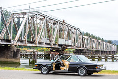 One Morning in Oregon (Thomas Hawk) Tags: america bmw bmw30cs bmwe9 e9 oregon oregoncoast reedsport usa unitedstates unitedstatesofamerica auto automobile bridge car classiccar trainbridge us fav10 fav25 fav50 fav100