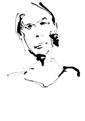 [20171119] (rodneyvdb) Tags: art blackandwhite bw contemporary drawing expression expressionism fashion femme figurative illustration ink modern model paper portrait sketch vogue woman