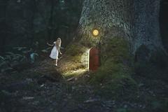 *** (Anastasia Kosh) Tags: wander fairy tree house roots magic small alice light forest moss dream dreamlike tommelise dress outdoor me selfportrait