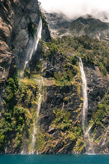 The 3 Falls of Milford Sound (redfurwolf) Tags: waterfall milfordsound mountain water fjord newzealand rock nature spring redfurwolf sony rx100m4 outdoor photography ngc nationalgeo travel summer
