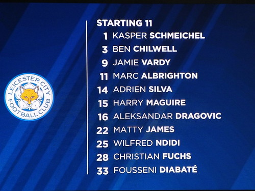 Leicester starting 11