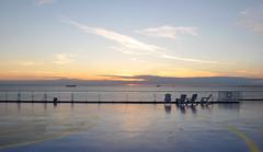 Empty (DameBoudicca) Tags: sweden sverige schweden suecia suède svezia スウェーデン malmö マルメ öresund øresund エーレスンド strait sund meerenge estrecho détroit stretto 海峡 sunset solnedgång sonnenuntergang ocaso coucherdesoleil tramonto 日没 ferry färja boat däck deck