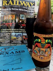 A drink and some reading (st_asaph) Tags: weyerbacher imperialstout fforfail railwaymagazine craftbeer