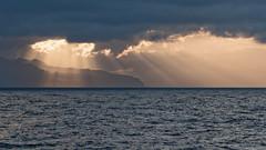 Sunbeams (Jaf-Photo) Tags: sunbeams sunlight rays light clouds sky ocean sea water madeira atsea sony nex7 vintage dxo