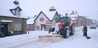 Snow plough. Hay on Wye . Powys. Wales