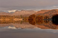 Colours of winter (Nige H (Thanks for 12m views)) Tags: nature landscape winter lakedistrict lakedistrictnationalpark cumbria england reflection wetreflection mountains windermere lakewindermere lowwoodbay dawn morninglight wintercolours countryside englishcountryside
