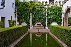 Alcazar Gardens, Seville (Jocelyn777) Tags: patio pool reflections plants courtyards architecture palace monuments alcazar seville sevilla andalucia spain travel