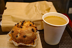 Chocolate muffin at Europan (Canadian Pacific) Tags: 2018aimg7294 newyork city state usa unitedstates america american us upperwestside manhattan