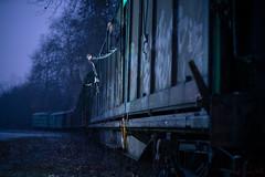 Asalto al tren fantasma (Raymar Photo) Tags: tren sony a7r longexposure noche atardecer paisaje estación ourense galicia train tamron 70200mm g2 canon adapter bluehour bañosdemolgas sonyflickraward