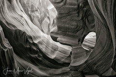 Antelope Canyon, Arizona (Jean-Marc Vogel Photography) Tags: antelope canyon page arizona nb noir blanc noiretblanc noirblanc white black blackandwhite bw schwarz weiss nero blanco slot navajo blackwhite