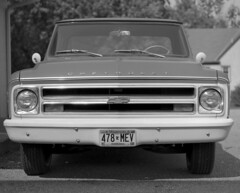 Chevrolet (Paul Lundberg) Tags: mamiyarb67 sekorc180mmf45 ultrafinextreme100 rodinal epsonv550 film 6x7 blackwhite truck chevy chevrolet