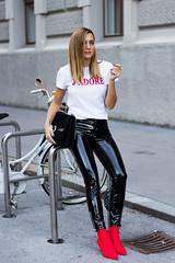 Vinyl pants (Vinyl Beauties) Tags: pvc vinyl plastic pants trousers model beauty fashion diesel lack plastik hose lackhose sexy