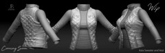 Work in Progress - Azia Sweater and Azia Vest - Just Because (Just BECAUSE_SL) Tags: turtleneck vest sleeveless jacket puffy quilted sweater long sleeve winter fall cold rain original mesh wip work progress coming soon