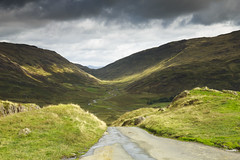 The Winding Wrynose Pass (Benjamin Driver) Tags: wrynose wrynosepass wrynosebottom hardknott hardknottpass pass lakedistrict landscape cumbria cloud clouds light valley colour quiet morning walking england uk unitedkingdom summer 2017 landscapes nd ndgradfilter ndfilter lee leefilters