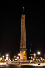Super Blood Moon Eclipse Over Egyptian Obelisk (Kurt Lawson) Tags: 2015 28 eiffeltower placedelaconcorde ancient bloodmoon city concorde donated eclipse egypt egyptian eiffel france hieroglyphics lunar luxor monument moon night obelisk paris september stars super supermoon temple total tower îledefrance