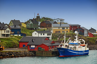 The quaint fishing town of Honningsvåg Norway
