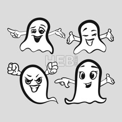 Set of emotional ghosts with hands (Hebstreits) Tags: background boo boohoo card cartoon celebration character creative creativity cute death decoration design drawing face fear fly fun funny ghost hand happy holiday icon illustration monster party scary set smiling spirit spooky vector white